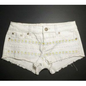 💰3/20$💰ARDENE low rise white jeans shorts size 5